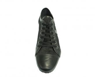 Мъжки обувки от естествена кожа черни EYLR-10095