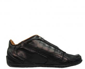 Мъжки обувки  от естесвена кожа черни FFSY-10005