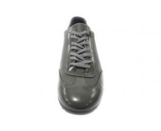 Мъжки обувки спортни естествена кожа сиви XYNK-11178