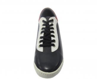 Мъжки обувки спортни естествена кожа сини SZRI-11210