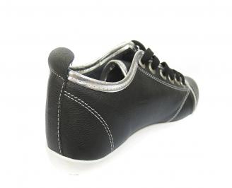 Мъжки обувки спортни естествена кожа черни EIXB-11415