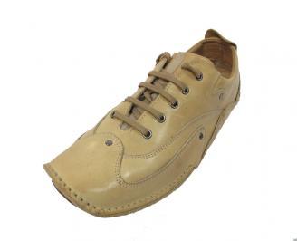 Мъжки обувки спортни естествена кожа бежови GSIE-11428