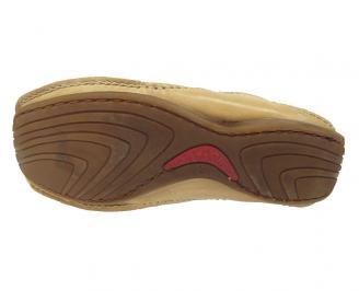 Мъжки обувки спортни естествена кожа бежови 4
