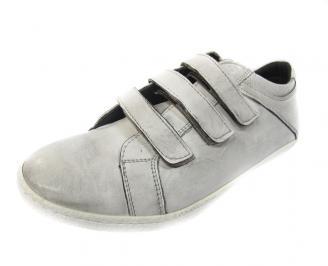 Мъжки обувки спортни естествена кожа бели SLQJ-11434