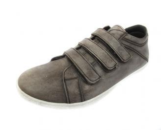 Мъжки обувки спортни естествена кожа кафяви UUEC-11435