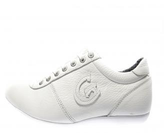 Мъжки обувки спортни естествена кожа бели BFKR-11696