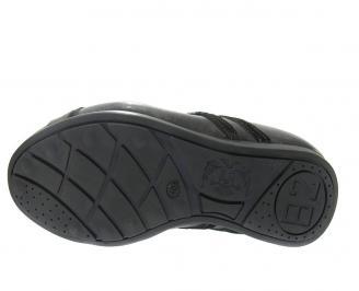 Мъжки обувки спортни естествена кожа черни KWKR-11893