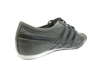 Мъжки обувки спортни естествена кожа сиви EZFX-11936