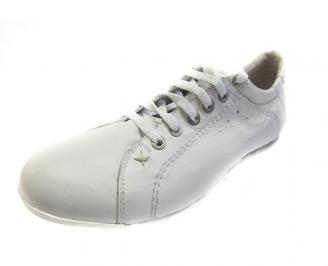 Мъжки обувки спортни естествена кожа бели IQJN-11954