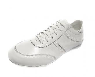 Мъжки обувки спортни естествена кожа бели CWTK-12463