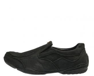 Мъжки обувки  спортни естествена кожа черни VIUZ-10300