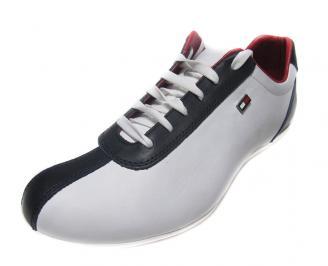 Мъжки обувки спортни естествена кожа бели XFIL-14458