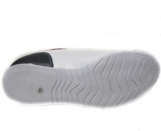 Мъжки обувки спортни естествена кожа бели CVKC-14897
