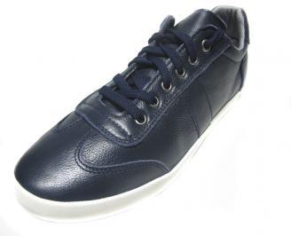 Мъжки обувки спортни естествена кожа сини LOPP-14898