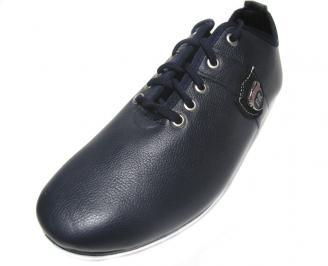 Мъжки обувки спортни естествена кожа сини LBQI-14902