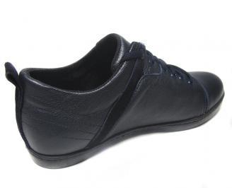 Мъжки обувки спортни естествена кожа сини MCWB-14903