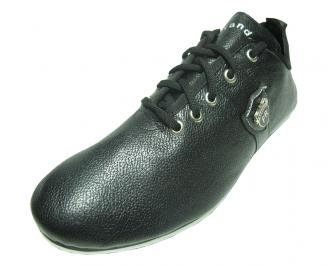 Мъжки обувки спортни естествена кожа черни HRAZ-15110