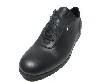 Мъжки обувки спортни естествена кожа черни DBXL-15263