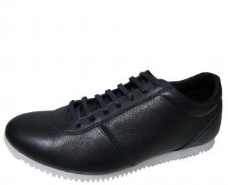 Мъжки обувки спортни естествена кожа сини STLT-15718