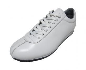 Мъжки обувки спортни естествена кожа бели TGTH-15719