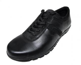Мъжки обувки спортни естествена кожа черни ICIK-15721