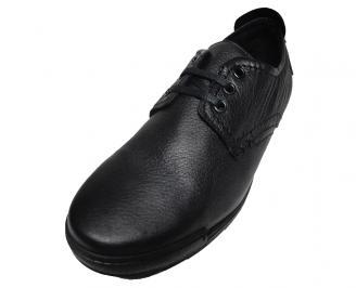 Мъжки обувки спортни естествена кожа черни JMKO-15849