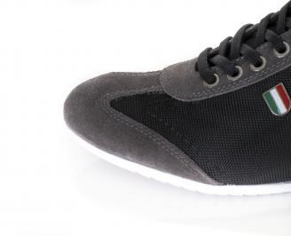 Мъжки обувки спортни естествен велър/текстил черни GSFY-16382