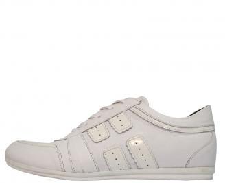 Мъжки обувки спортни естествена кожа бели ZLUH-10069