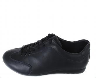 Мъжки обувки спортни естествена кожа тъмно сини EUYI-17501