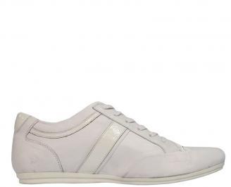 Мъжки  обувки спортни естествена кожа бели ESLC-10076