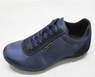 Мъжки  обувки спортни текстил сини KYGP-23077
