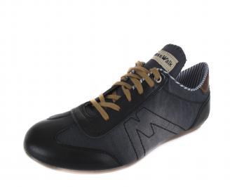 Мъжки обувки спортни текстил черни OUKX-16846
