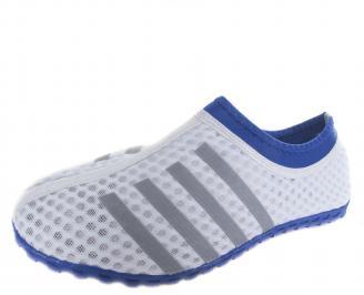 Мъжки обувки  текстил/мрежа бели CQEM-19685
