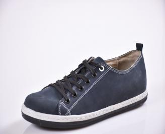Мъжки обувки тъмно сини набук UOYN-21307