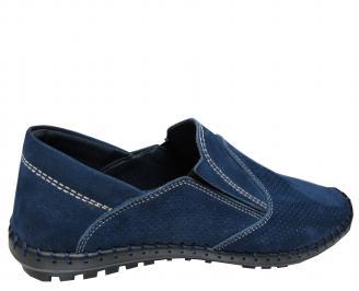 Мъжки обувки тъмно сини естествен набук XVYC-21543