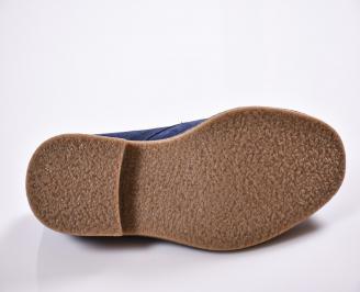 Мъжки обувки тъмно сини  велур GVKP-22268