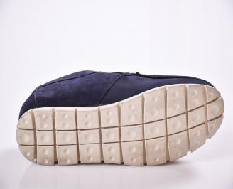Мъжки обувки тъмно сини  велур FDAH-23081