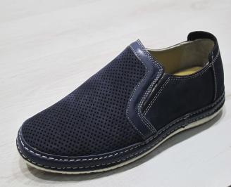 Мъжки обувки тъмно сини естествен набук JUDF-24298