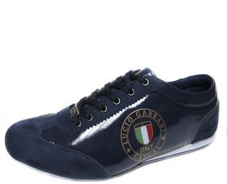 Мъжки обувки тъмно сини еко кожа/лак EOSD-18912