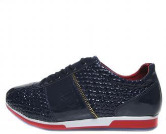 Мъжки обувки тъмно сини еко кожа/лак OJXT-18915