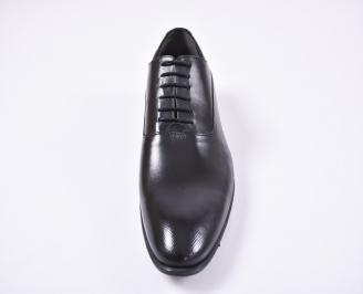 Мъжки официални обувки естествена кожа черни LJPS-1010734