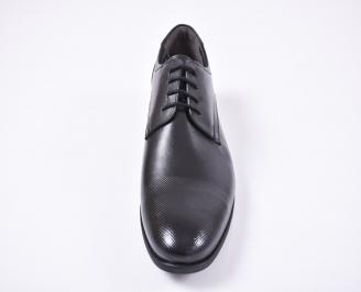 Мъжки официални обувки естествена кожа черни OCXV-1010735