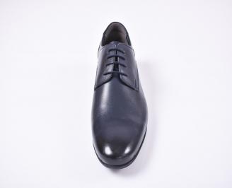 Мъжки официални обувки естествена кожа сини GTXS-1010737