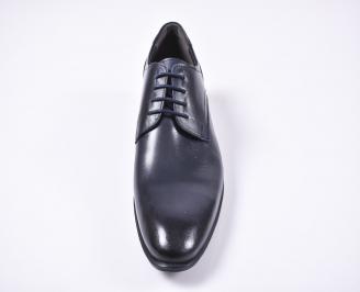 Мъжки официални обувки естествена кожа сини MJAG-1010746
