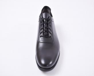 Мъжки официални обувки естествена кожа черни GZXL-1010961