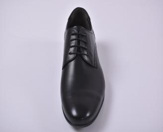 Мъжки официални обувки естествена кожа черни OSTE-1010968