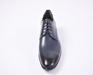 Мъжки официални обувки естествена кожа сини XQLH-1010974