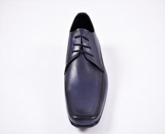 Мъжки официални обувки естествена кожа сини UDVI-1011401
