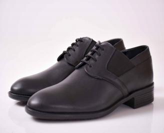 Мъжки официални обувки естествена кожа черни LBVO-1015940