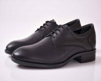 Мъжки официални обувки естествена кожа черни ZZLR-1015942